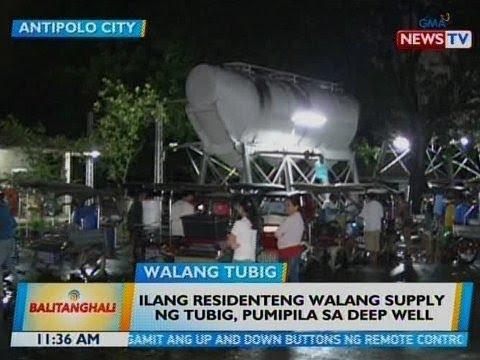 BT: Ilang residenteng walang supply ng tubig sa Antipolo City, pumipila sa deep well