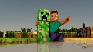 Cinema 4D Minecraft 4D Steve and Creeper