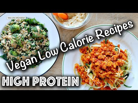 LOW CALORIE HIGH PROTEIN VEGAN RECIPES (Gluten-Free too!)