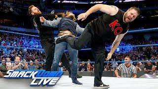 Kevin Owens and Sami Zayn unleash a brutal assault on Daniel Bryan: SmackDown LIVE, March 20, 2018 width=