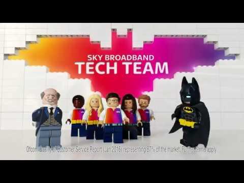 Sky Broadband & The Lego Batman Movie  - Introducing the new  Sky Broadband Tech Team