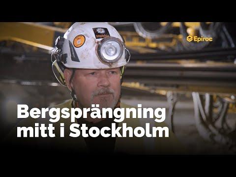 Så spränger Implenia ut 270 000 m3 berg mitt i Stockholms innerstad med Boomer XE3C