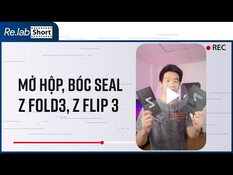 Mở hộp, bóc seal Samsung Galaxy Z Fold3, Galaxy Z Flip3 sướng hết cả người. ☺️ #Shorts