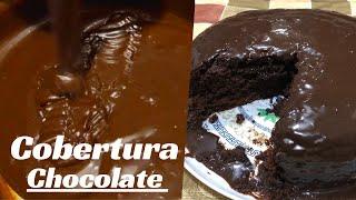 cobertura para bolo de chocolate simples e fácil