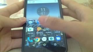 Como bloquear a tela com o sensor de impressão digital no Moto G4 Plus