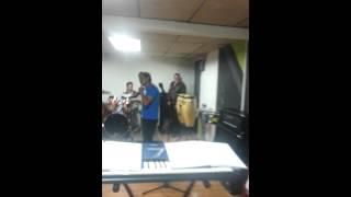 Banda Morena, ensayo en Tunja.