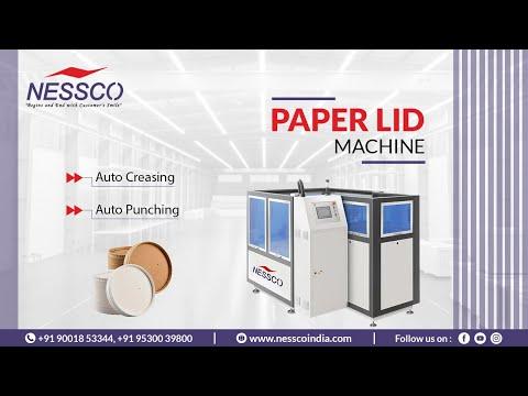 PAPER LID MACHINE (60 Pcs/ Min)  ||  Paper Lid Forming Machine 3 Layer