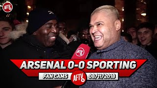 Arsenal 0-0 Sporting Lisbon | Why Can't We Create Atmosphere Like Sporting Fans! (Heavy D)