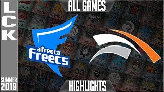 AF vs HLE Highlights ALL GAMES | LCK Summer 2019 Week 10 Day 2 | Afreeca Freecs vs Hanwha Life