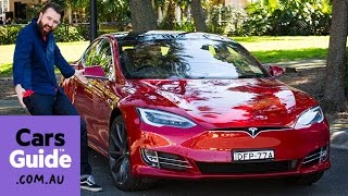 Tesla Model S P90D 2016 review | road test video