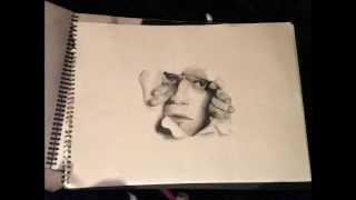 Man Ripping Through Paper Illusion!