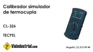 Calibrador simulador de termocupla CL-326 de TECPEL