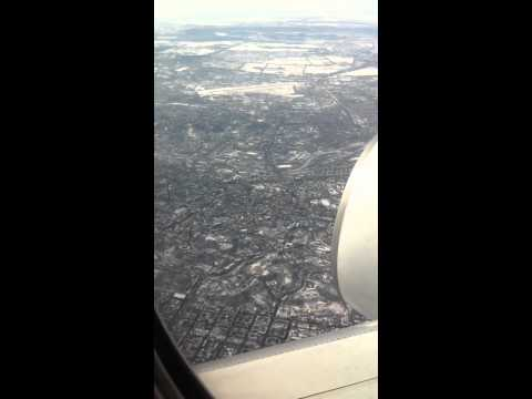 Flying over Kiev, Ukraine