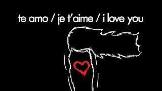 te amo / je t'aime / i love you by Alvy Carragher