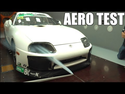 2000HP Toyota Supra Wind Tunnel Aero Testing - The Results were AWESOME!