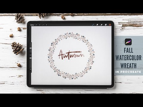 Paint a Fall Watercolor Wreath in Procreate
