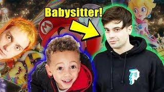 Damien Babysits Tyler and Plays Mario Kart