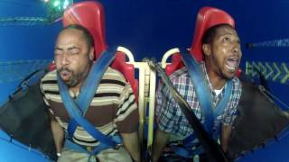Warning Explicit language: The best reaction to slingshot ride ever!