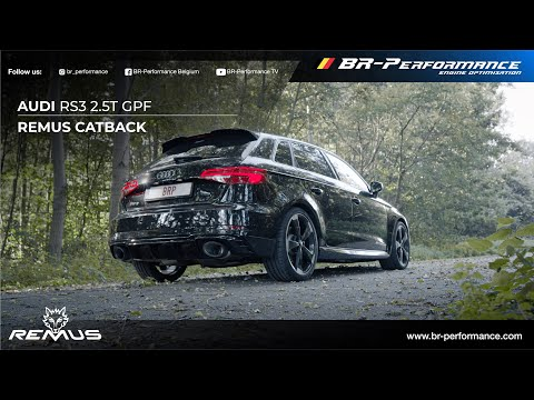 Audi RS3 Remus Catback Exhaust / Sound Comparison By BR-Performance / EC type approval
