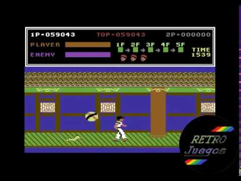 Kung Fu Master p/ Commodore 64 - Review de RETROJuegos by Fabio Didone