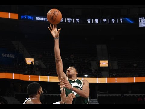 Giannis  Puts Up 21 Points in Loss to Pistons