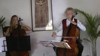 Bach Allemande from Lute suite No 1 for 2 Cellos