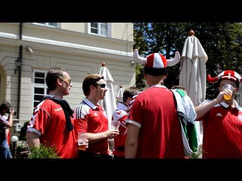 "Danish fans sing ""Ukraine"".MOV"