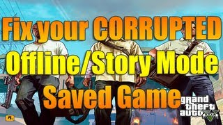 Fix your Corrupted Offline/Story Mode Game | Grand Theft Auto 5