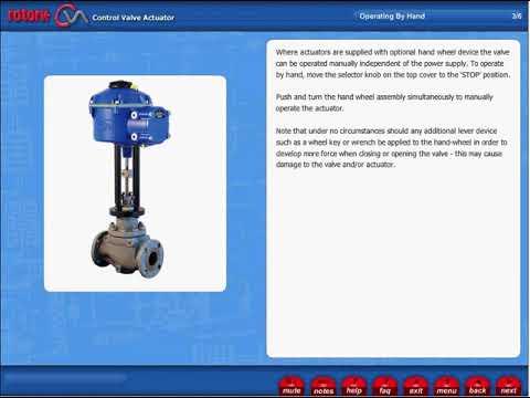 CVA Actuator Hand Operation