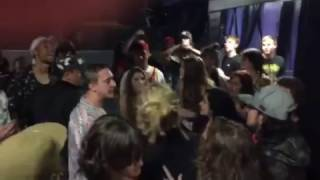 Pouya starts a fight at the Roseland Theater in Portland 10/6/15