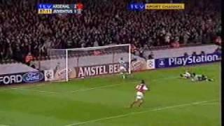 Ljungberg & Bergkamp Great Team Goal - Arsenal v Juventus