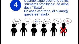 Juegos para aprender los números en inglés: Buzz