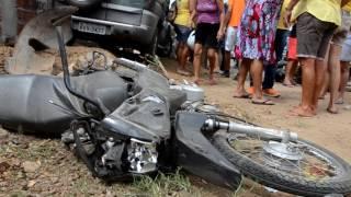 Colisão Moto com Carro, duas vítimas em Sousa