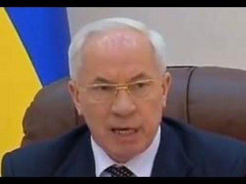 Розлючений Азаров вигнав депутата (Повна версія!)