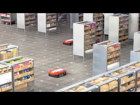 360° at DB Schenker - see racks on robots (part 2 from above)!