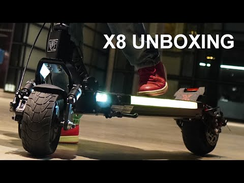 HERO RIDER X8 ELECTRIC SCOOTER UNBOXING AND COMPARISON TO S8 ELECTRIC SCOOTER
