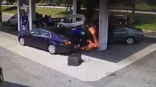 Il sauve un homme d'une voiture en flamme dans une station service HEROS
