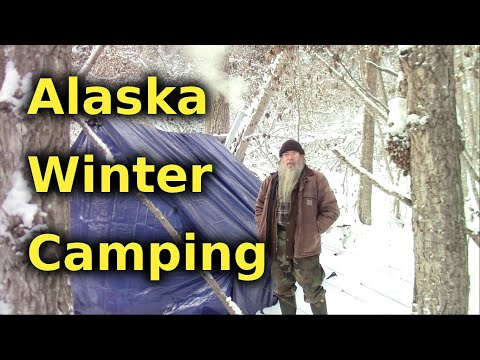 We Winter Camp With Homemade Tent And Stove