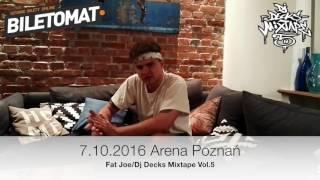 Sarius - Zapowiedź Koncertu Fat Joe/Dj Decks Mixtape 5 Arena Poznań (7.10.2016)