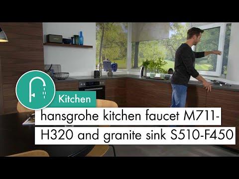 hansgrohe Kitchen mixer M711 H320 Granite Sink concrete grey