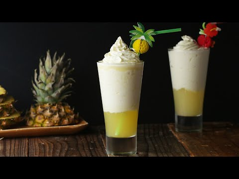 Pineapple Ice Cream Float For A Tropical Staycation ? Tasty