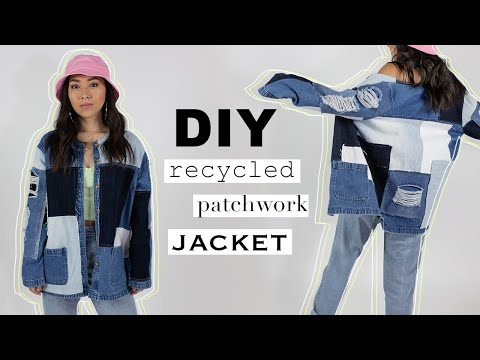 Making a Patchwork Jacket from Recycled Jeans | Sewing with @coolirpa