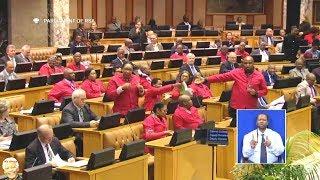 Breaking News | EFF Disrupts Gigaba's Budget Speech