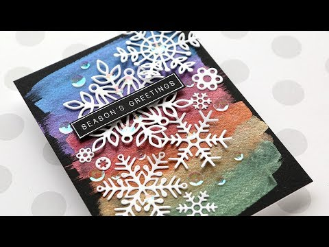 Holiday Card Series 2019 – Day 4 – Snowflakes & Metallic Rainbow