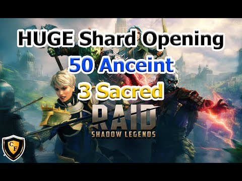 RAID: SL - HUGE Shard Opening (50 Ancient / 3 Sacred)