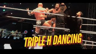 Triple H Dancing With Jinder Mahal WWE LIVE INDIA