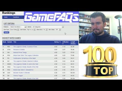 TOP 100 Juegos de la Historia (según GameFAQs) --- Análisis de la lista