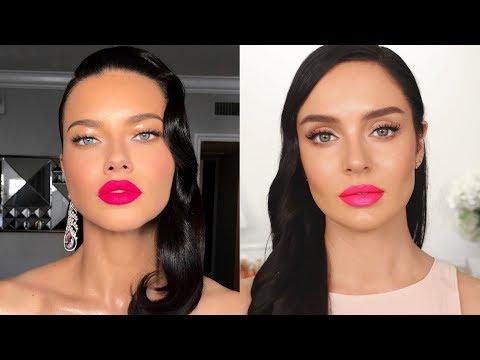 Adriana Lima Oscars Makeup by Patrick Ta \ Chloe Morello