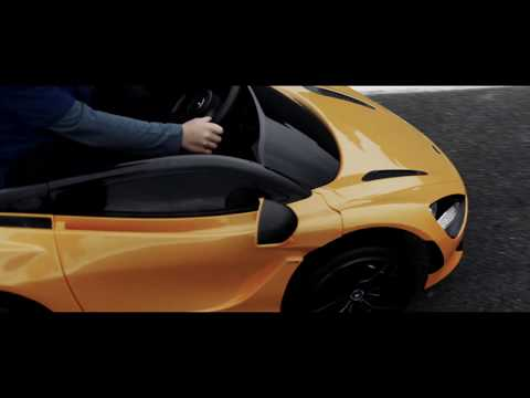 Learning to drive a McLaren super car at four years old
