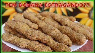 BISCOITINHO CROCANTE DE BANANA COM CANELA | SUPER FÁCIL E GOSTOSO